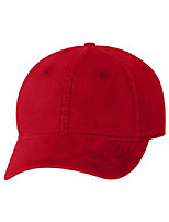 cheap -authentic headwear - ''the cozy'' unstructured cap - ah35 - adjustable - red