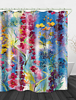 cheap -Watercolor flowers Print Waterproof Fabric Shower Curtain for Bathroom Home Decor Covered Bathtub Curtains Liner Includes with Hooks