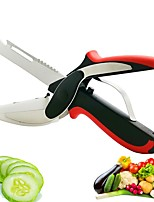 cheap -Multifunction Kitchen Scissor 6 in 1 Cutting Board Utility Cutter Stainless Steel Vegetable Meat Scissor Kitchen Cooking Knife