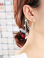cheap -Women's Hoop Earrings Ear Cuff Tassel Fringe Vertical / Gold bar Vintage Classic Earrings Jewelry Gold For Wedding Party Stage 1pc