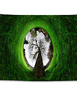 cheap -Wall Tapestry Art Decor Blanket Curtain Hanging Home Bedroom Living Room  Polyester House Abstract Art Trees Grass Green Landscape
