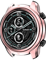 cheap -Case Compatible with TicWatch Pro 3 GPS Smart Watch Accessories Case TPU Plated Cover Protective Bumper Shell for Pro 3 Only