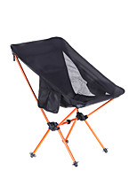 cheap -Beach Chair Camping Chair with Side Pocket Portable Ultra Light (UL) Foldable Washable Aluminum Alloy Oxford for 1 person Fishing Camping Camping / Hiking / Caving Outdoor Autumn / Fall Spring Black