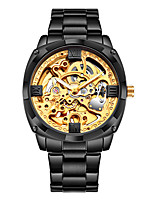 cheap -WLISTH Men's Mechanical Watch Analog Automatic self-winding Gift Set Modern Style Noctilucent Large Dial / Stainless Steel
