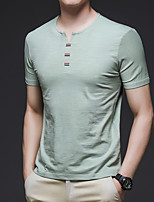 cheap -Men's T shirt Hiking Tee shirt Short Sleeve Tee Tshirt Top Outdoor Quick Dry Lightweight Breathable Stretchy Autumn / Fall Spring Summer Polyester White Blue Grey Fishing Climbing Camping / Hiking