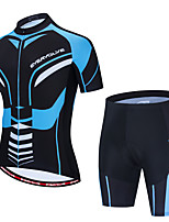 cheap -Men's Short Sleeve Cycling Jersey with Shorts Black / Blue Bike Sports Graphic Clothing Apparel / Micro-elastic / Athleisure