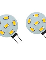 cheap -2pcs 2 W LED Bi-pin Lights 200 lm G4 6 LED Beads SMD 5730 Warm White Natural White White 9-30 V