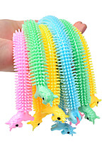 cheap -5pcs Worm Noodle Stretch String TPR Rope Anti Stress Toys Fidget Toys Random Color