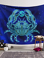 cheap -Wall Tapestry Art Decor Blanket Curtain Hanging Home Bedroom Living Room Color blue Polyester Crab