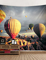 cheap -Tapestry Wall Hanging Art Deco Blanket Curtain Hanging Home Bedroom Living Room  Spectacular Hot Air Balloon