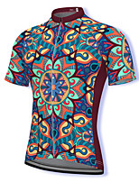 cheap -21Grams Men's Short Sleeve Cycling Jersey Spandex Burgundy Bike Top Mountain Bike MTB Road Bike Cycling Breathable Quick Dry Sports Clothing Apparel / Athleisure