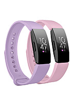 cheap -Smart Watch Band for Fitbit 2 PCS Sport Band Silicone Replacement  Wrist Strap for Fitbit Ace 2 Fitbit Inspire HR Fitbit Inspire