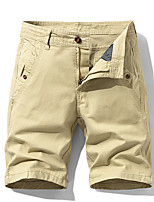 """cheap -Men's Hiking Shorts Hiking Cargo Shorts Summer Outdoor 10"""" Ripstop Quick Dry Multi Pockets Breathable Cotton Knee Length Bottoms Army Green Black Blue Grey Khaki Work Hunting Fishing 30 32 34 36 38"""