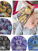 cheap -european and american foreign trade children's accessories, children's donut hats, newborn baby balls printing toques in stock