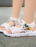 cheap -Girls' Sandals Comfort Flower Girl Shoes Princess Shoes PU Heelys Shoes Big Kids(7years +) Daily Home Walking Shoes Pink Green Gray Spring Summer