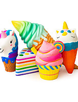 cheap -5 PCS Value Packs Jumbo Slow Rising Kawaii Squishies Plus Squishy Toy for Kids Comes in Mix Dessert (Cake Ice Cream Unicorn) Random Style