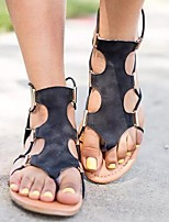 cheap -Women's Slippers & Flip-Flops Flat Heel Open Toe Rubber Solid Colored White Black Beige
