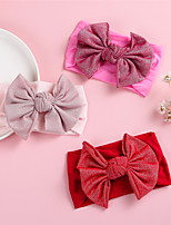 cheap -1pcs Toddler / Infant Girls' Active / Sweet Daily Wear Solid Colored Bow Nylon Hair Accessories Red / Blushing Pink / Fuchsia One-Size