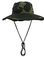 cheap -Women's Fisherman Hat Hiking Cap 1 PCS Outdoor Portable Sunscreen Soft Breathable Hat Camo Polyester Yellow Army Green Camouflage for Fishing Climbing Beach