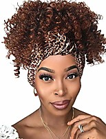 cheap -gusif hair headband wig synthetic hair for black women curly none lace front wigs synthetic hair glueless 150% density 6 inch (1b 30, 6 inch)