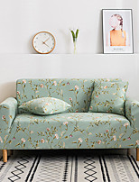 cheap -2021 New Stylish Simplicity Print Sofa Cover Stretch Couch Super Soft Fabric Retro Hot Sale Green Flower Couch Cover