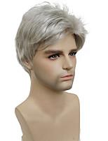cheap -Short Silver gray Wig Mens Short Synthetic Hair Wigs COLOUR CHOICES