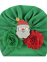 cheap -2019 christmas new european and american baby old flower bonding christmas cartoon accessories children's solid color caps in stock