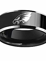 cheap -flystarjewelry philadelphia' american football eagles' ring black titanium steel rings for men women couple wedding engagement promise band (7)