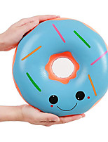 cheap -9.8 Inches Squishies Jumbo Donut Kawaii Scented Soft Slow Rising Doughnut Squishies Stress Relief Kids Toy Gift Collection Decorative Props Blue
