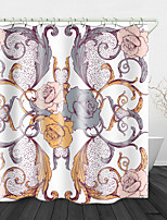 cheap -European flowers Print Waterproof Fabric Shower Curtain for Bathroom Home Decor Covered Bathtub Curtains Liner Includes with Hooks