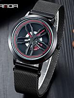 cheap -SANDA watch waterproof fashion watch sports business men's mesh strap quartz watch