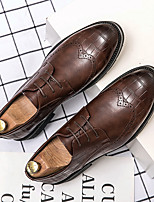 cheap -Men's Oxfords Bullock Shoes Business Daily Walking Shoes Faux Leather Breathable Non-slipping Wear Proof Black Brown Spring