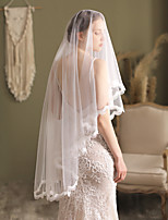 cheap -Two-tier Comtemporary / Stylish Wedding Veil Fingertip Veils with Solid Lace / Tulle