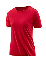 cheap -Men's T shirt Hiking Tee shirt Short Sleeve Tee Tshirt Top Outdoor Quick Dry Lightweight Breathable Sweat wicking Autumn / Fall Spring Summer Women's Style: Fruit Green Female models: pink Female
