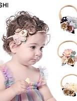 cheap -cross-border european and american fashion mesh belt pearl diamond fabric flower children's headband cute parquet nylon baby headband