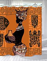 cheap -Ancient Porcelain Woman Digital Printing Shower Curtain Shower Curtains  Hooks Modern Polyester New Design