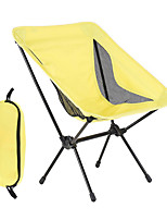 cheap -Camping Chair Portable Ultra Light (UL) Foldable Comfortable Oxford Cloth 7075 Aluminium Alloy for 1 person Fishing Beach Camping Traveling Autumn / Fall Winter Yellow