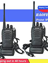 cheap -2pcs/set baofeng bf-888s walkie talkie portable radio station bf888s 5w bf 888s comunicador transmitter transceiver radio set
