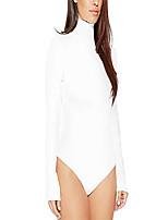 cheap -kaimeng turtleneck long sleeve sexy bodysuit for women(small, medium, large, x-large black white)