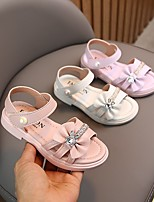 cheap -Girls' Sandals Comfort Flower Girl Shoes Princess Shoes PU Mary Jane Big Kids(7years +) Daily Home Walking Shoes Bowknot Sparkling Glitter Purple Pink Beige Spring Summer