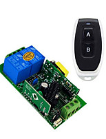 cheap -AC110V 220V 2CH Relay Switch Learning Code Receiver For Light/LED Power ON OFF switch/ 433mhz Toggle Momentary can change