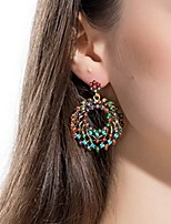 cheap -Women's Drop Earrings Hollow Out Stylish Earrings Jewelry Rainbow color For Date Festival 1 Pair