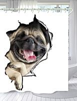 cheap -Cute Puppy Digital Printing Shower Curtain Shower Curtains  Hooks Modern Polyester New Design