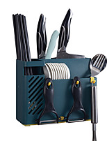 cheap -Cooking Utensil Holder Wall-mounted Chopsticks Holder Water Draining Spoons Knives Straws Kitchen Organizer