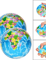 cheap -6 pcs Stress Relief World Map Foam Ball Atlas Globe Palm Ball Planet Earth Ball Adult Kids Novelty Funny Gadgets Anti Stress Toys