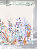 cheap -Purple Stamen Digital Printing Shower Curtain Shower Curtains Hooks Modern Polyester New Design