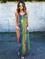 cheap -factory outlet 2020 cross-border european and american women's independent station hot sale ebay long skirt tie-dye sleeveless pocket dress