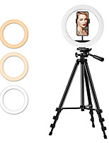 "cheap -10"" LED Ring Light Dimmable LED with Tripod Stand With Phone Holder 3 Color Lighting Modes Height Adjustable for Photography Tiktok Youtube Video Makeup Live Streaming"