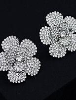 cheap -Women's Stud Earrings Drop Earrings Hoop Earrings Geometrical Flower Shape Stylish Artistic Vintage Trendy Sweet Earrings Jewelry Silver For Party Wedding Daily Holiday Festival 2pcs