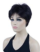 cheap -Men's Short Black Natural Synthetic Full Wig for Men